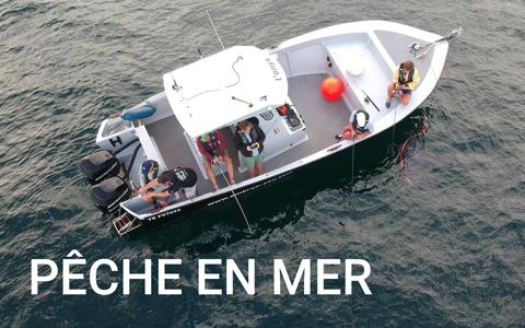 bateau pêche en mer yeu